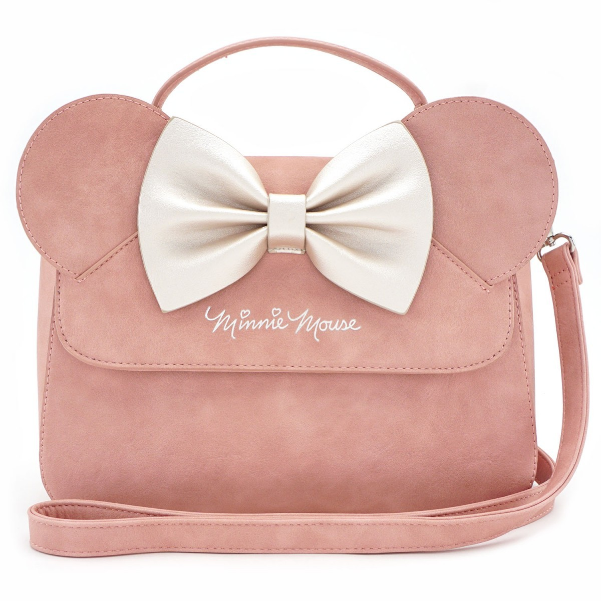 7de7210ba32 Loungefly x Minnie Ears   Bow Pink Crossbody Bag   Women s   at ...