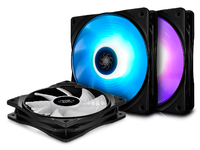 Deepcool: RF120 3-in-1 Customisable RGB LED Fans - 120mm (3-Pack)