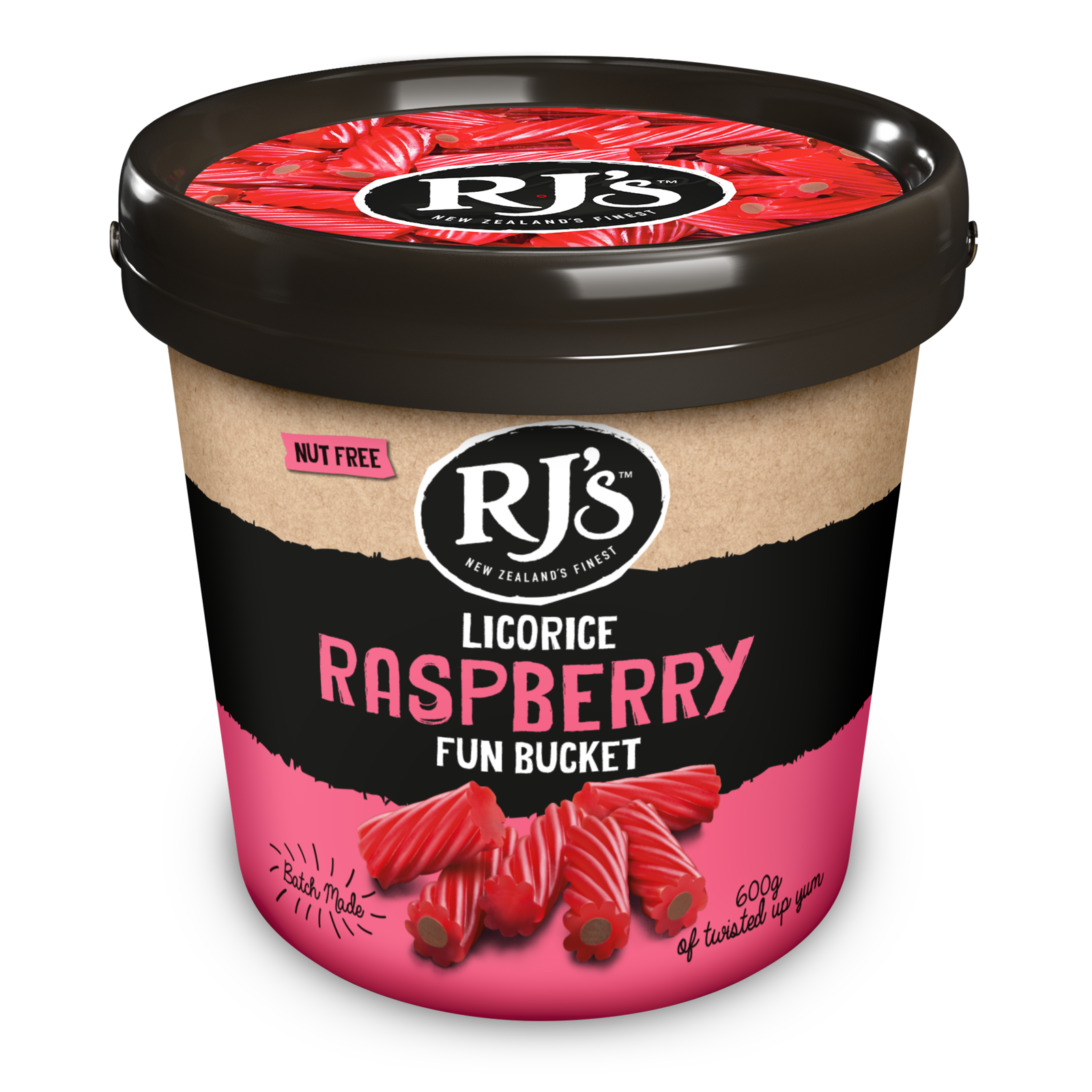 RJ's Licorice Raspberry Fun Bucket 600g image