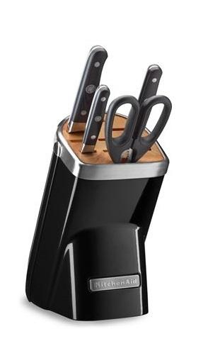 KitchenAid: Knife Block - Onyx Black (5 Piece Set)