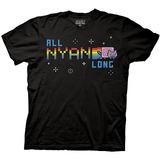 Nyan Cat All Nyan Long Black T-Shirt - Small