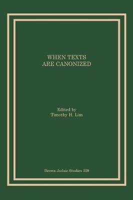 When Texts Are Canonized