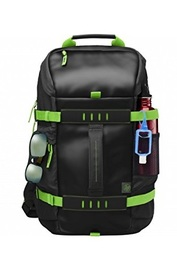 "HP 15.6"" Odyssey - Laptop Backpack (Black/Green)"
