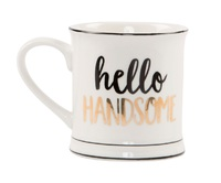 Hello Handsome - Metallic Monochrome Mug