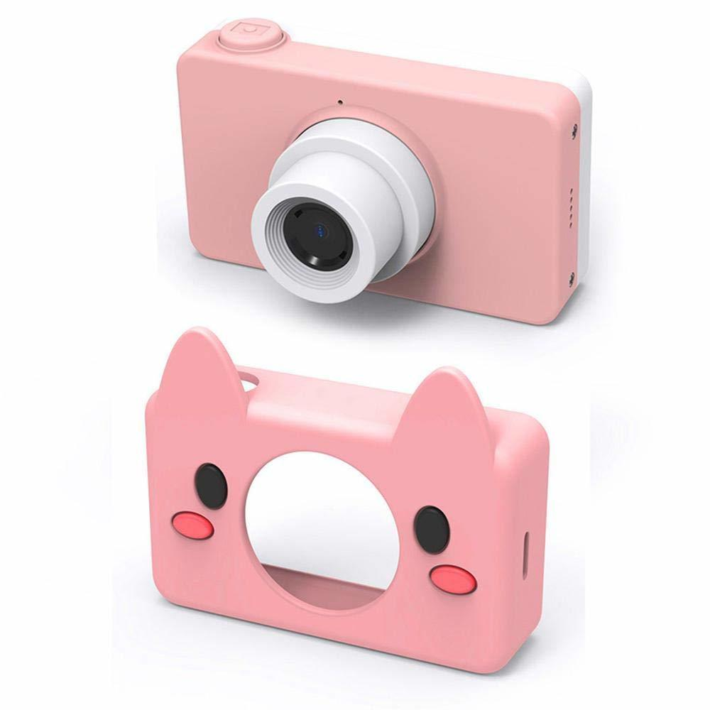 Ape Basics: Kids Digital Camera 1080P with 8GB SD Card - Pink Pig image