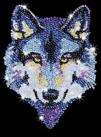 Sequin Art - Wolf