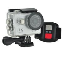 Ultra HD 4K Action Camera w/ Accessories Pack & Remote Control - Silver