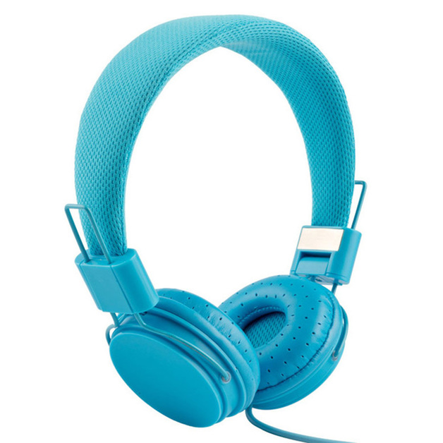 Music On-Ear Earphones with Microphone - Blue
