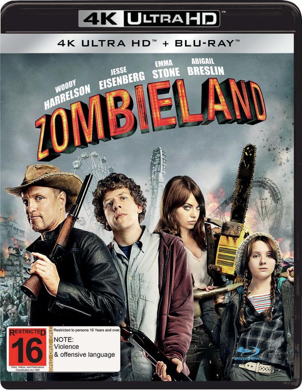 Zombieland (2 Disc Set) on Blu-ray, UHD Blu-ray