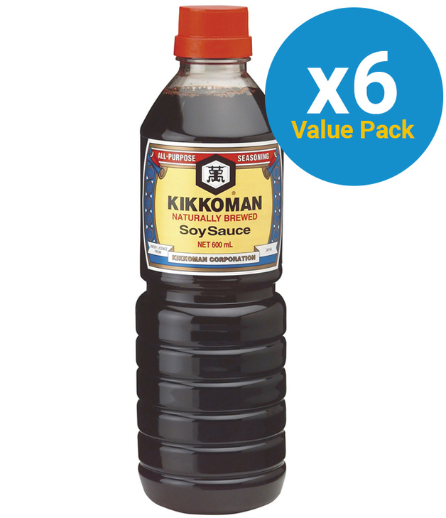 Kikkoman Soy Sauce 600ml x 6