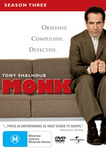 Monk - Season 3 (4 Disc Slimline Set) on DVD