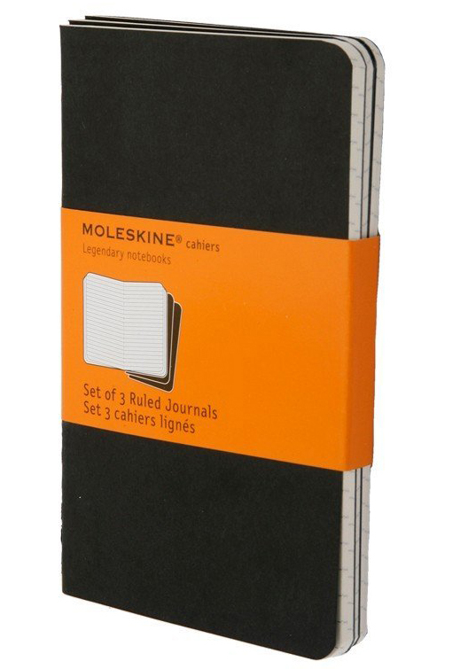 Moleskine Ruled Cahier - Set 3 Notebooks (Pocket, Soft, Black)
