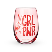 Blush Stemless Wine Glass - GRL PWR