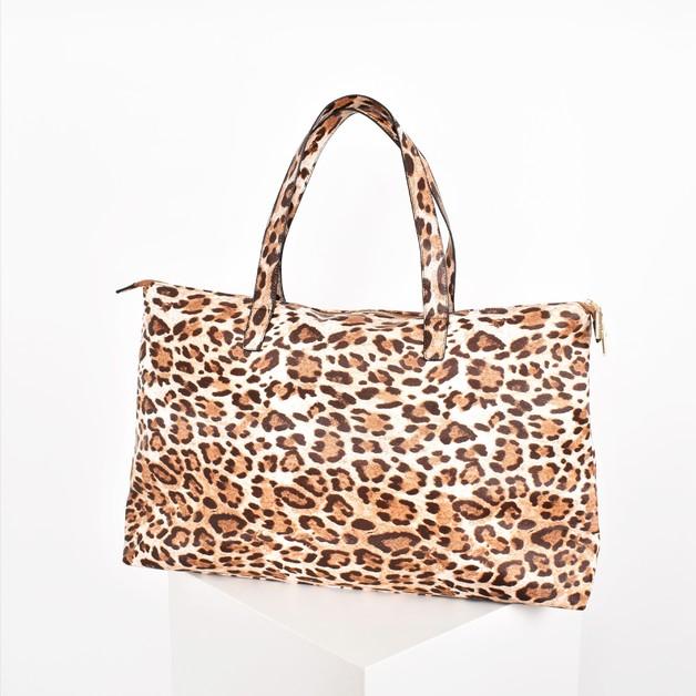 Adorne: Leopard Print Weekender Bag