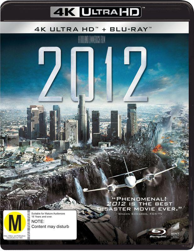 2012 (4K UHD + Blu-Ray) on UHD Blu-ray