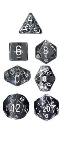 Chessex Translucent Polyhedral Dice Set - Clear image