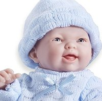 Mini La Newborn: Real Boy Baby Doll - Blue (24cm) image