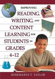 Improving Reading, Writing, and Content Learning for Students in Grades 4-12 image