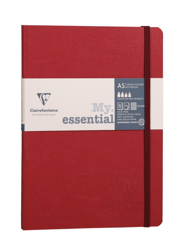 Clairefontaine: Age-Bag My Essential A5 Dot Grid - Red