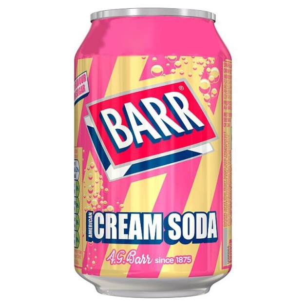BARR Cream Soda 330ml 24pk