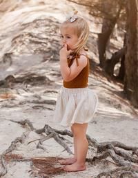 Karibou Kids: Dance and Play Cotton Skirt - Almond Milk 4YRS