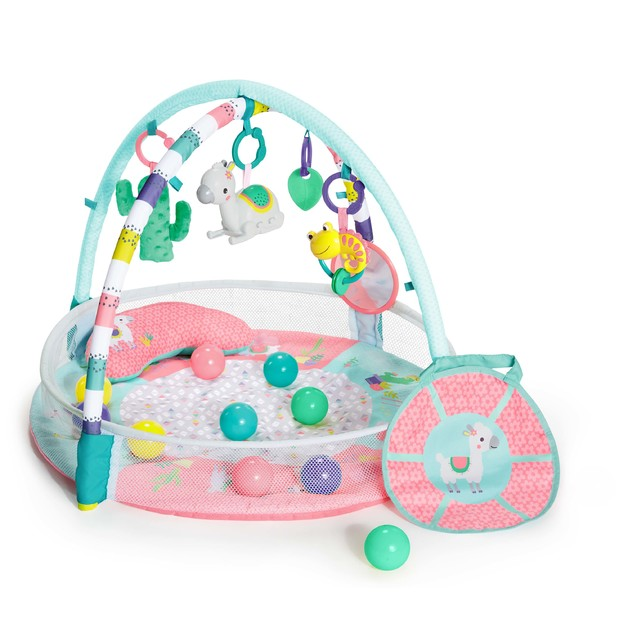 Bright Starts: 4-in-1 Rounds of Fun Activity Gym & Ball Pit - Pink