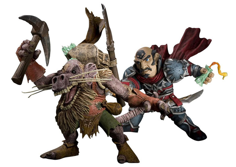 World of Warcraft Figure Set - Gnome Rogue vs Kobold Miner (series 8) image