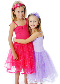 Fairy Girls - Sparkle Ballet Dress in Lavender (Small, age 1-4)