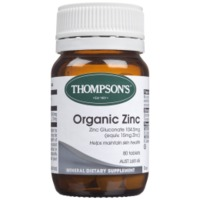 Thompsons Organic Zinc (80 Tablets) image