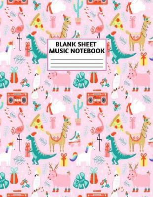 Blank Sheet Music Notebook by Precious Fitzpatrick Music