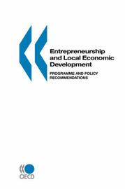 Entrepreneurship and Local Economic Development by Oecd