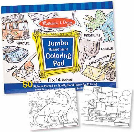 Melissa & Doug: Jumbo Colouring Pad Blue