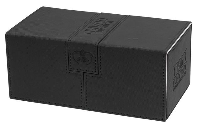 Ultimate Guard: 200+ XenoSkin Twin Flip'n'tray Deck Case (Black)