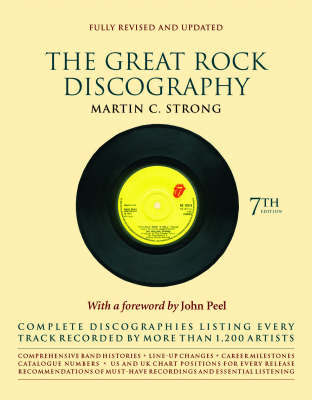 Great Rock Discography 7th Ed by Martin Strong image