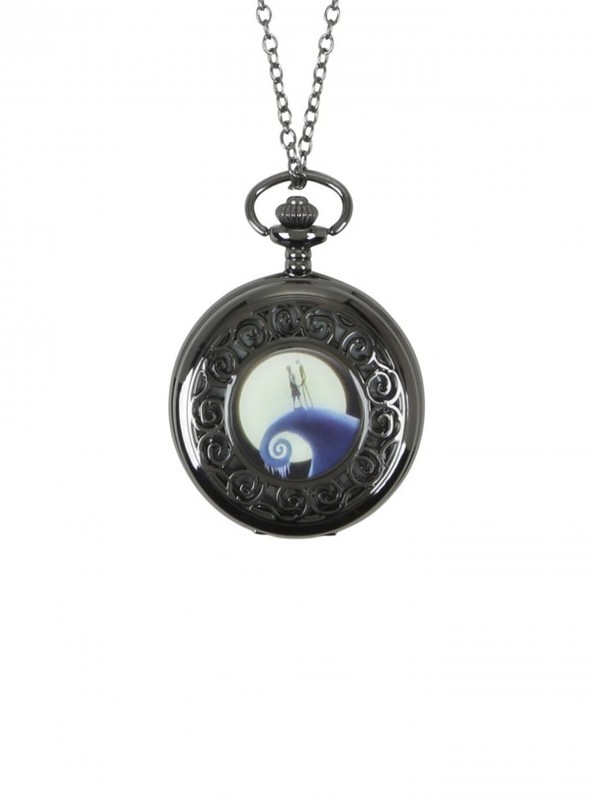 Neon Tuesday: Nightmare Before Christmas - Jack & Sally Pocket Watch Necklace