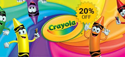 25% off Crayola