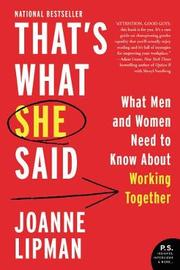 That's What She Said by Joanne Lipman