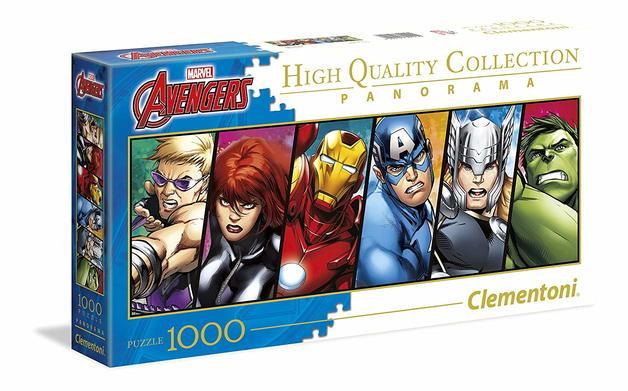 Clementoni: 1,000-Piece Puzzle - Avengers Panorama