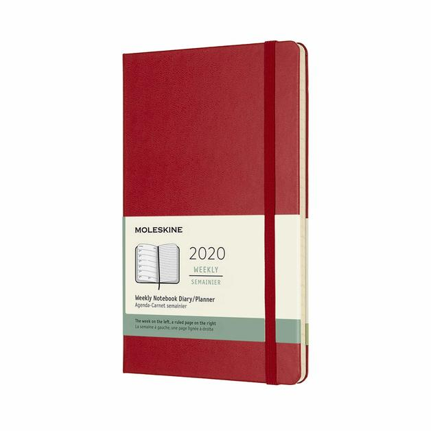 Moleskine: 2020 Diary Large Hard Cover 12 Month Weekly - Scarlet Red