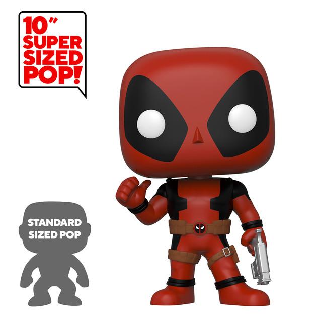 "Deadpool: Thumbs Up (Red) - 10"" Super Sized Pop! Vinyl Figure"