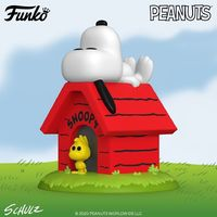 Peanuts: Snoopy & Woodstock on Doghouse - Pop! Deluxe Figure