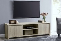 Shangri-La: 1.45M Alta TV Entertainment Unit - Dusky Oak