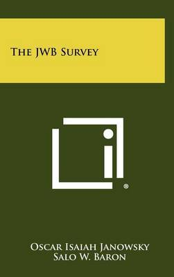 The Jwb Survey by Oscar Isaiah Janowsky image