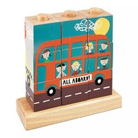 Floss & Rock: Wooden Cube Puzzle - Transport
