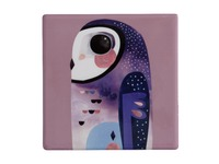 Maxwell & Williams: Pete Cromer Ceramic Square Tile Coaster - Owl (9.5cm)