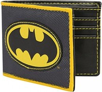 Batman Logo - Applique Nylon Bi-fold Wallet