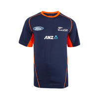 NZ Blackcaps Replica Training Tee - Medieval Blue (Large)