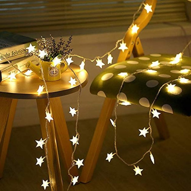Opal Stars Fairy Lights - 30 LED Lights - Battery Powered