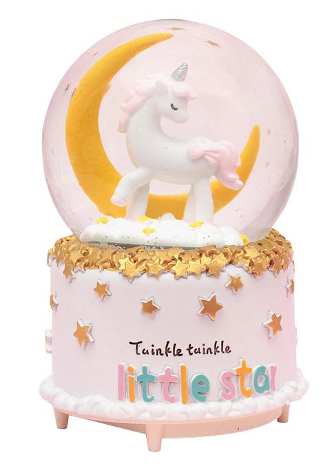 Twinkle Twinkle Little Star - Unicorn Snow Globe (Large)