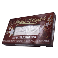 Fallout: Nuka World Ticket (Silver Plated) - Metal Replica